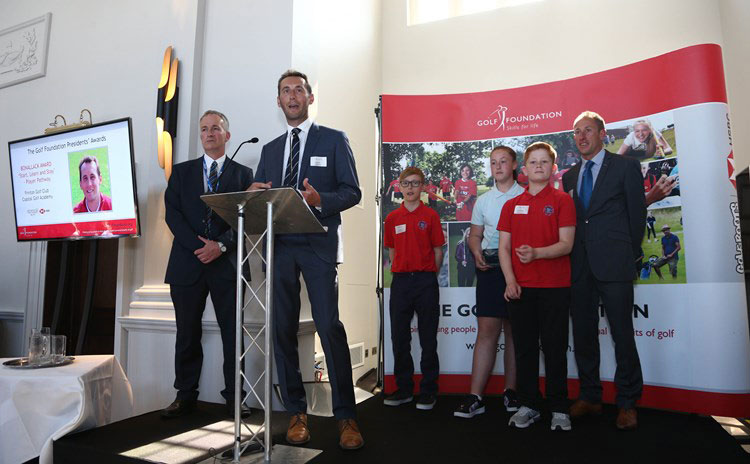 CGA win The Golf Foundations Bonallack Award