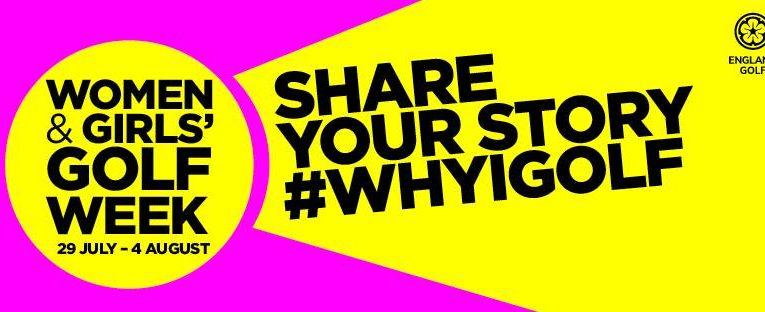 CGA supporting Women and Girls' Golf Week #WHYIGOLF
