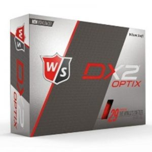 Wilson DX2 OPTIX Dozen High Visibitly Red Golf Balls