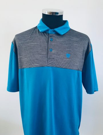 !Clearance! Island Green Men's Contrast Yoke Polo Shirt