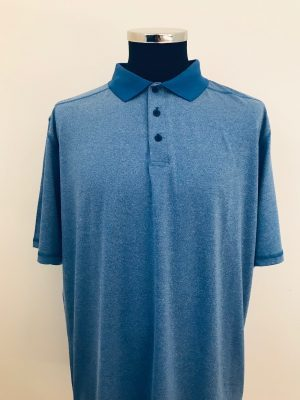 !Clearance! Island Green Men's Flatlock Stitch Polo Shirt