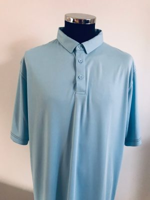 !Clearance! Island Green Men's Contrast Stitch Polo Shirt