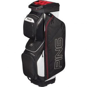 Ping Traverse G410 Cart Bag 2019 Black/White/Scarlet