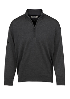 Men's ProQuip Merino Half-Zip Lined Sweater (Grey/Black)