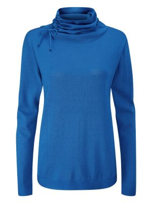 Ping Alice Cowl Neck Long Sleeved Sweater (Snorkle Blue)