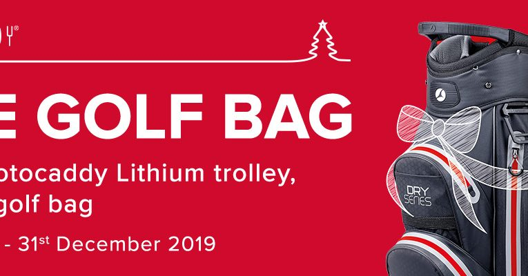 Buy a Motocaddy Trolley and get a FREE Golf Bag
