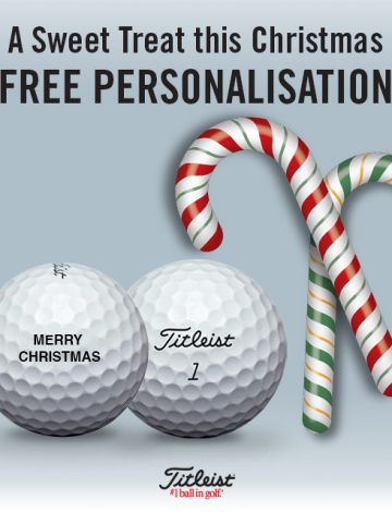 Free Christmas Personalisation Offer – Titleist Dozen Golf Balls
