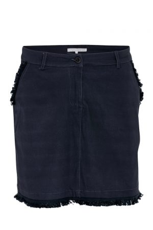 SS20 Swing Out Sister Corfu Cotton Satin Skort (navy)