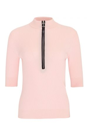 SS20 Swing Out Sister Monterey Cotton Zip Polo (heavenly pink)