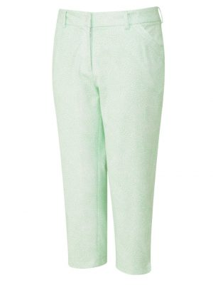 Women's Ping Daisy Cropped Trousers (mint/white)