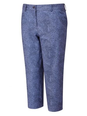 Women's Ping Daisy Cropped Trousers (navy)