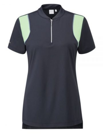Women's Ping Bliss SS Polo Shirt Size 12 – Navy/Mint