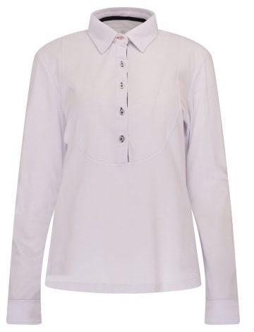 SOS Aspen Long Sleeve Pique Polo White