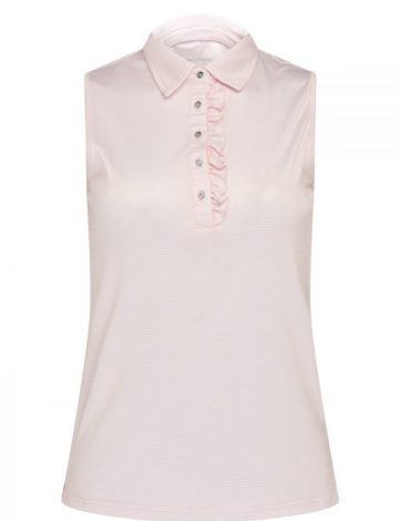 Women's Swing out Sister Stripe Sleeveless Polo Shirt – Heavenly Pink