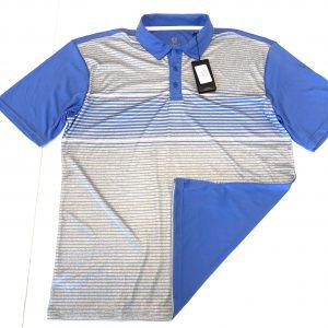 Men's Island Green Stripe Polo Size M – China Blue