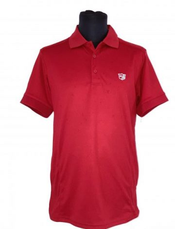 Men's Wilson Staff Performance Polo Shirt Size M – Red