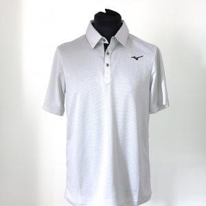 Men's Mizuno BT Polo Shirt Size M – Light Grey