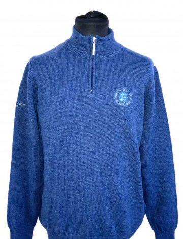 Men's Frinton Golf Club Crested Glenmuir Lundin Sweater Size M – Petrol