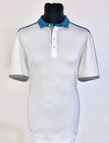 Men's Ping Easton Polo Shirt Size XL – White / Teal Multi (Not Perfect)