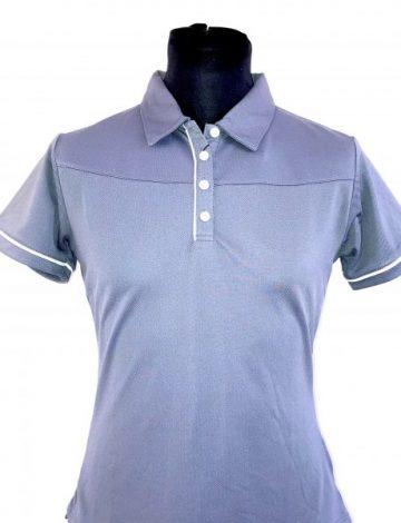 Women's Stuburt Urban Casual Polo Size M – Grey
