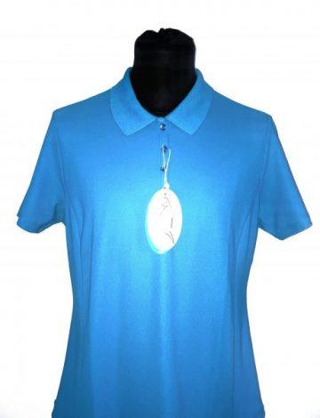 Women's Greg Norman Short Sleeve Play Dry Pro Tec Micro Pique Polo – Atlantic Blue