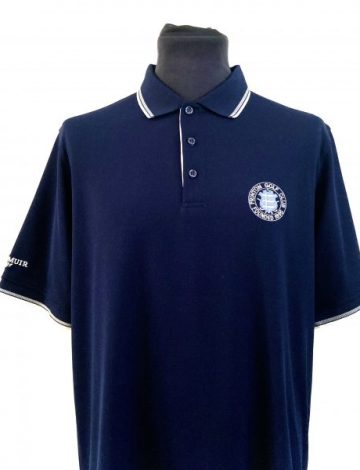 Men's Glenmuir Frinton Golf Club Crested Ethan Polo Shirt – Navy/White