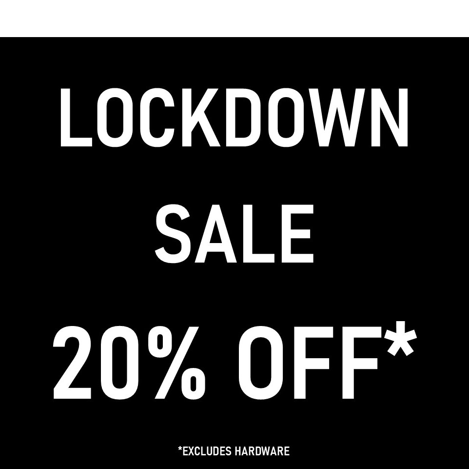20% off all items in our Online 'LOCKDOWN20' Sale