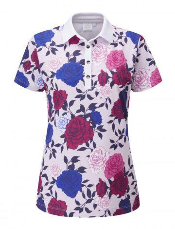 Ping Women's Rose Garden Pink Multi Polo Shirt